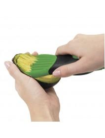 3 in 1 Green Avocado Slicer Peeler Tool Plastic Corer With Comfort-Grip Handle