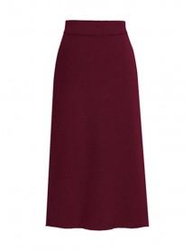 Elegant High Waist Medium Long Knit Winter Skirts