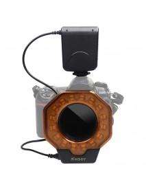 SHOOT SL-103C Macro Ring Flash Light LED GN15 6800K Diameter 52 55 58 62 67 72 77mm Adapter Ring