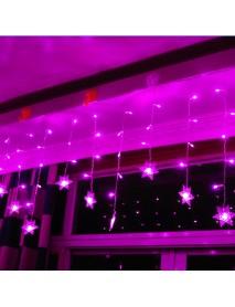 3.8M LED Curtain Snowflake String Lights LED Fairy Lights 8 Modes 220-240V Christmas Lights