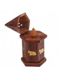 Bakhoor Burner Incense Burner Mabkara Oud Dalbergia Wooden Carved Handmade Gift