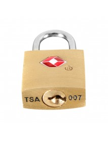 KCASA LK-31 TSA Approved Padlock Travel Security Luggage Solid Brass Key Door Lock