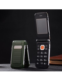 Hodoo X7 Flip Phone 2.4'' 2800mAh Big BOX FMDual Flashlight Dual SIM Card Long Standby Feature Phone
