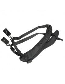 Double Shoulder Neck Strap With Sling Belt For Digital SLR DSLR Camera