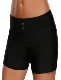 3XL Black High Waist Swimming Trunks For Women By Banggood