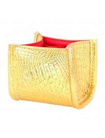 3 Colors Crocodile Skin Brush Storage Cosmetic Bag Case Pen Holder Solid Organizer