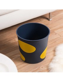 Printed Trash Can Household Living Room Storage Waste Bin for Home Cleaning Container