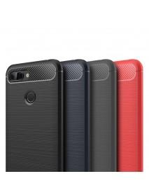 Mofi Carbon Fiber Shockproof Silicone Back Cover Protective Case for Xiaomi Mi8 Mi 8 Lite