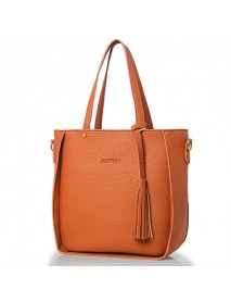 4 PCS Handbags Tassel Shoulder Bags Elegant Clutches Bags Wallets Card Holder