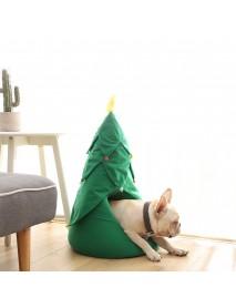 Christmas Tree Cartoon Pet Bed Dog Cat Puppy Warm Soft House Mat Nest
