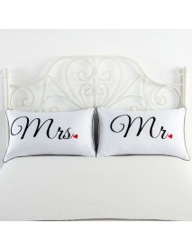 2PCS White Cotton Home Hotel Decor Standard Pillow Case Bed Throw Cushion Cover