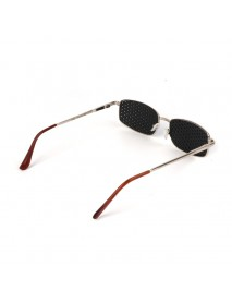 Metal Frame Pinhole Glasses Eyewear Eyesight Vision Improve Training Reading Glasses