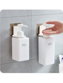 Non-Perforated Wall Body Wash Bottle Holder Suction Wall Bathroom Shampoo Storage Rack Towel Holder
