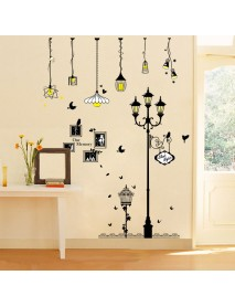 Creative Cartoon Chandelier PVC  Wall Sticker DIY Removable Household Decor Waterproof Wall Stickers