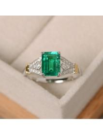 Luxury Topaz Stone Silver Rings Gemstone Zircon Romantic Ring Gift For Women