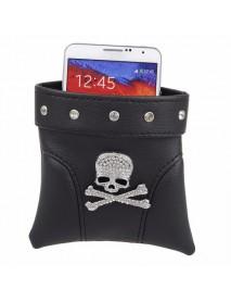 Halloween Skull Car Outlet Pocket Storage Hang Bag for Mobile Phone