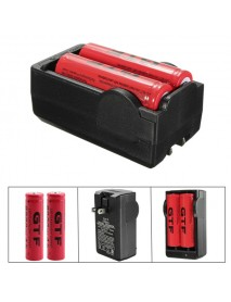 1x Double Charger 18650 + 2x 18650 Rechargeable Batteries / Double Charger + Batteries