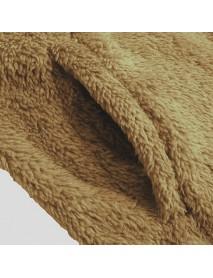 Men Fashion Cotton Long Section Long Sleeve Pocket Furry Cardigan Coats