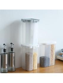1pcs Food Storage Pot Box 2.6L Refrigerator Plastic Transparent Sealed Crisper Cereal Jar Grain Kitchen Storage Container