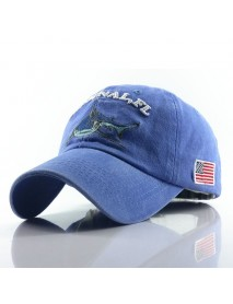 Baseball Cap Retro Sun Hat Shark Embroidery Hats