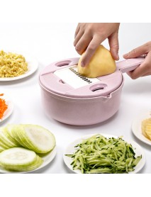 (6 In) Multifunctional Manual Vegetable Fruit Potato Cutting Cutter Disc Processor Chopper Machine Kitchen Slicer Tools Set Stainless Steel