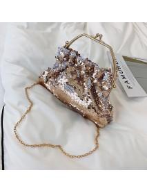 Bag Female New Sequins Shoulder Bag Fashion Trend Pumping Bucket Bag Chain Bag