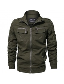 Mens Spring Autumn Outdoor Tactical Epualet Military Washed Cotton Jacket Plus Size S-4XL
