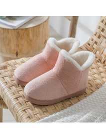Comfortable Soft Warm Fur Home Shoe Slip Resistant Ankle Boots