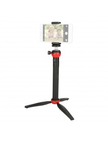 Ulanzi U-Mini Red Detachable Ballhead Tripod with Adjustable Extension Stick Phone Clip