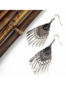 Bohemian Drop Earrings Gemstone Alloy Tassels Geometry Drop Earring For Women