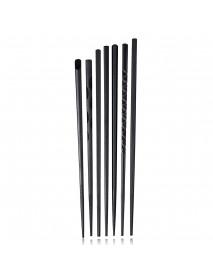 5Pairs (10 PCS) Alloy Non-Slip Reusable Chopsticks Sushi Set Chinese Food Chop Sticks Tableware