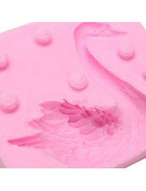 3D Beautiful Swan Fondant Silicone Mould Candle Sugar Chocolate Craft Tool