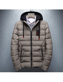 Mens Thick Warm Winter Hooded Padded Jacket