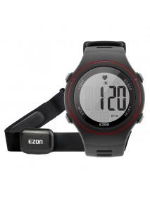 EZON T037 Men Watch Sprot Heart Rate Monitor Chronograph Alarm Outdoor Sport Digital Watch