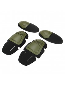 4Pcs Paintball Airsoft Combat Protective Military Tactical Knee Elbow Protector Pad Set Insert CS Training Gear