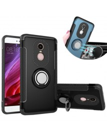 Bakeey Armor Shockproof Magnetic 360 Rotation Ring Holder TPU+PC Back Case For Xiaomi Redmi Note 4X
