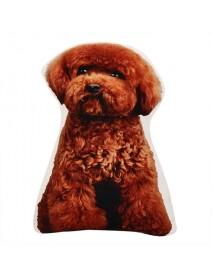 Creative 3D Cute Animal Cat Dog Shape Throw Pillow Plush Soft Sofa Car Office Cushion Gift