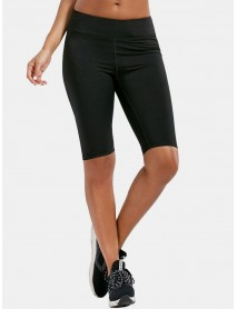 Solid Color Women Dry Quickly High Waist Biker Shorts For Running Yoga