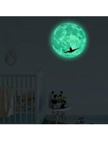 30Cm Large Moon Glow In The Dark Pattern Stickers Luminous DIY Wall Sticker
