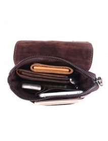 6 inches Men Genuine Leather Waist Bag Alligator Pattern Minimalist Casual Phone Bag Crossbody Bag