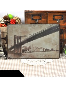 1pc 20 x 30 CM Vintage Cool Wall Decor Metal Paintings Retro Bars Cafe Home Decoration Wall Sticker