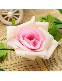 2.4m Artificial Plastic Rose Flower Green Leaves Garland Home Garden Wedding Party Decorations
