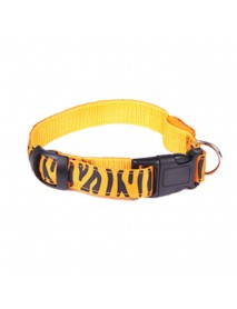 Leopard Print Adjustable Led Night Flashing Pet Dog Collar