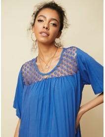 Bohemian Print Patchwork Irregular Hem Summer Casual Dress