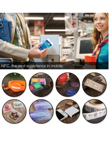 6 Pcs Ntag213 13.56Mhz NFC Electronic Tag Card is Fully Compatible with NFC Mobile Phone PET Waterproof Sticker