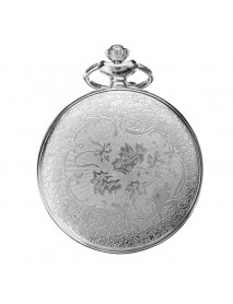 Antique Hollow Petals Dial Pocket Watch Quartz Watch Necklace Chain Gift