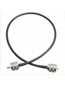 1Pc UHF PL259 Male to Male Plug Coax Coaxial Cable 20 Inch 50cm RG58 Soldered