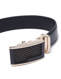 120CM 125CM Mens Business Two-Layer Leather Alloy Automatic Buckle Belt Fashion Waist Belts