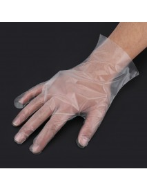 100Pcs/Pack CPE Food-grade Kitchen Disposable Gloves Transparent Tableware Glove Party Disposable Supply Hand Protection