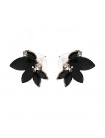 Elegant Crystal Wings Ear Stud Flower Rhinestones Earrings Gift for Her